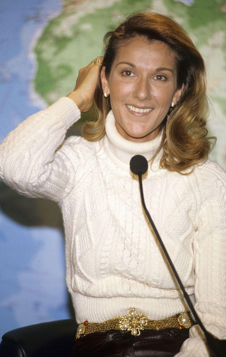 Céline Dion à Montreal en 1996.