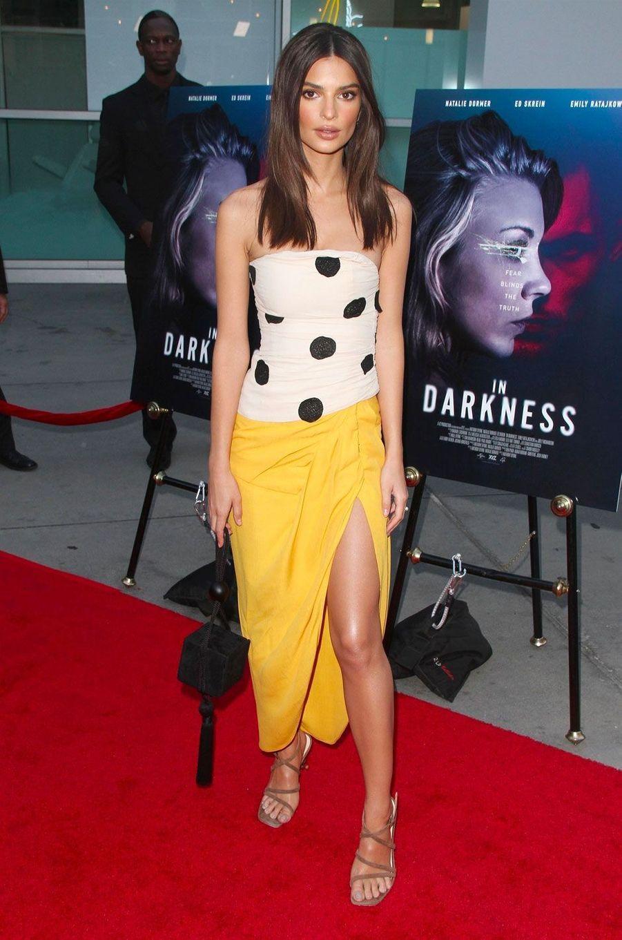 Emily Ratajkowski à la première de 'In Darkness' à Los Angeles, le 23 mai 2018