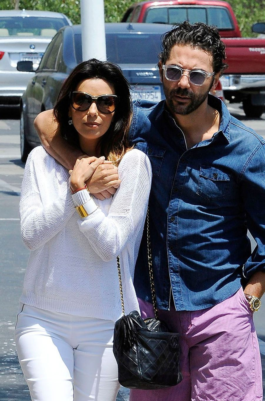Eva Longoria et José Baston, le 23 mai 2014 à Malibu.