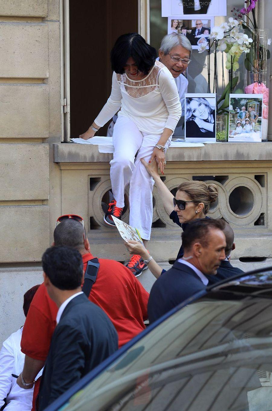Fans de Céline Dion, ils l'ont rencontrée, le 4 juillet 2017.
