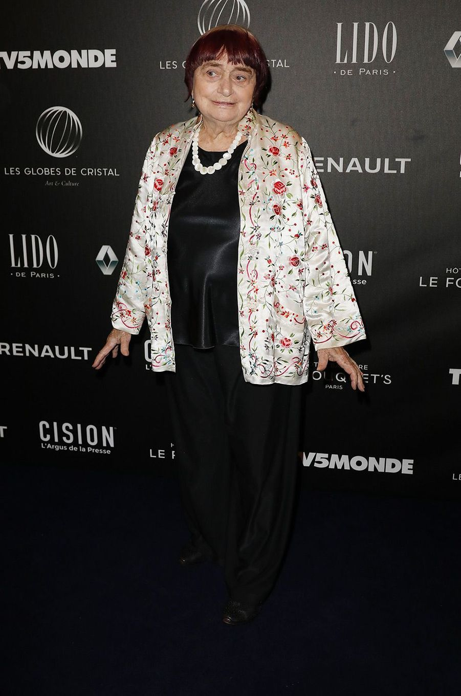 Agnès Varda à la 12ème cérémonie des Globes de Cristal
