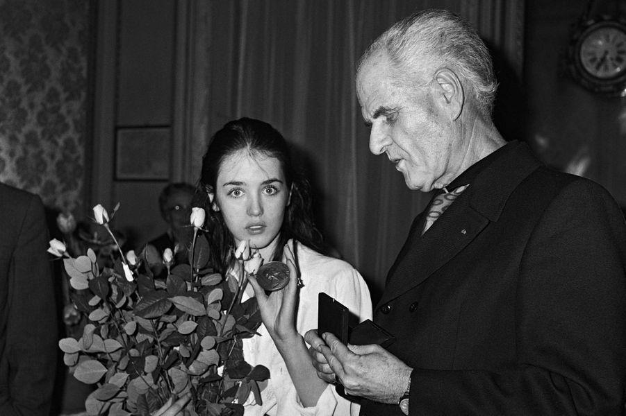 Jean Delannoy et Isabelle Adjani.