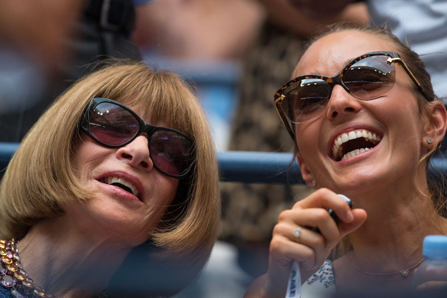 Jelena Djokovic avec Anna Wintour en septembre 2016