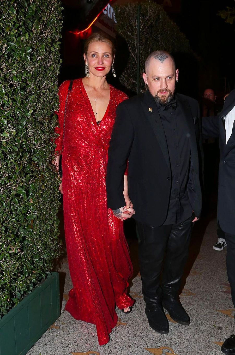 Cameron Diazet Benji Maddenà la fête de fiançailles de Gwyneth Paltrow