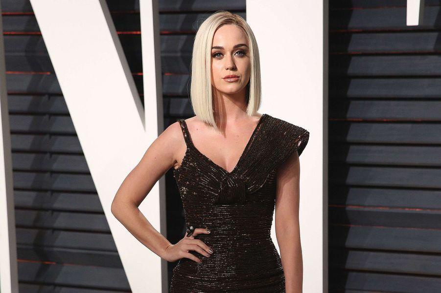 Katy Perryà la soirée Vanity Fair, le 26 février 2017.