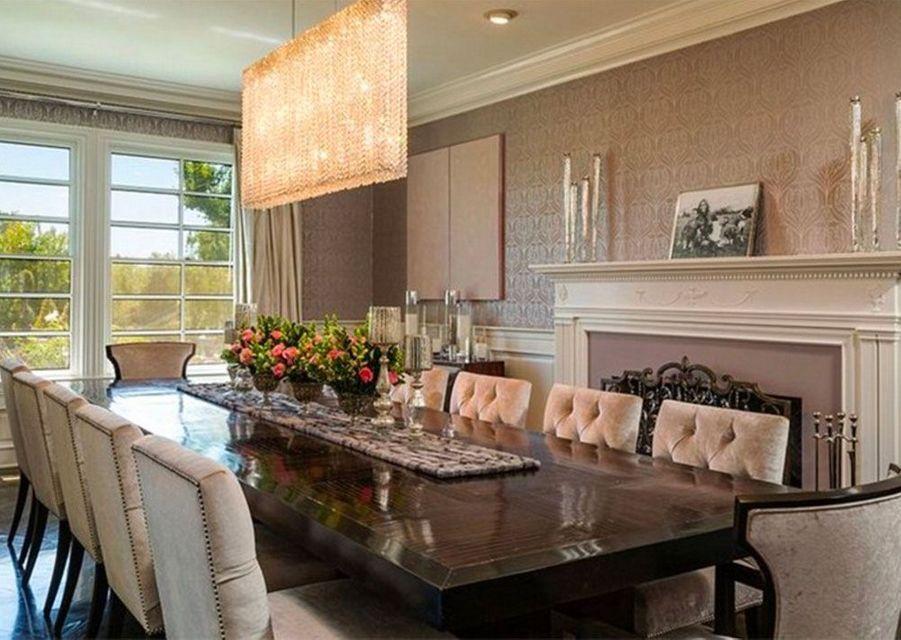 La luxueuse salle à manger.