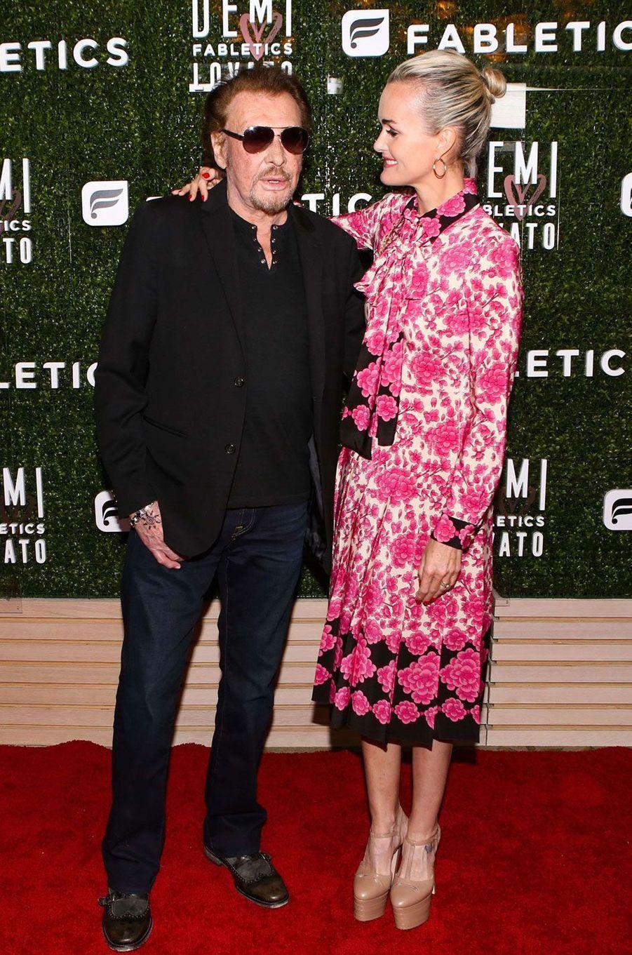 Johnny et Laeticia Hallyday, très amoureux à Hollywood.