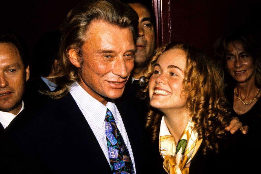 Johnny Hallyday et Laeticia en 1996