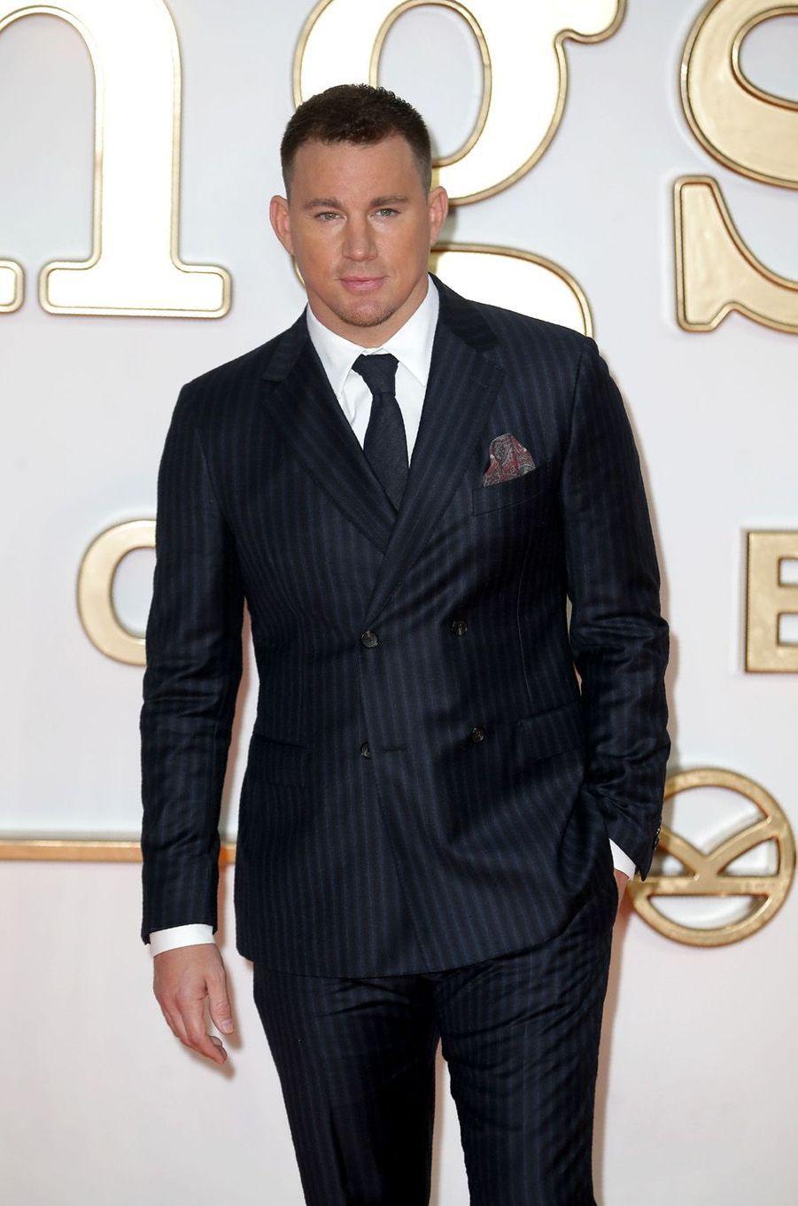 """Channing Tatumà l'avant-première de """"Kingsman : le cercle d'or"""", à Londres le 18 septembre 2017."""