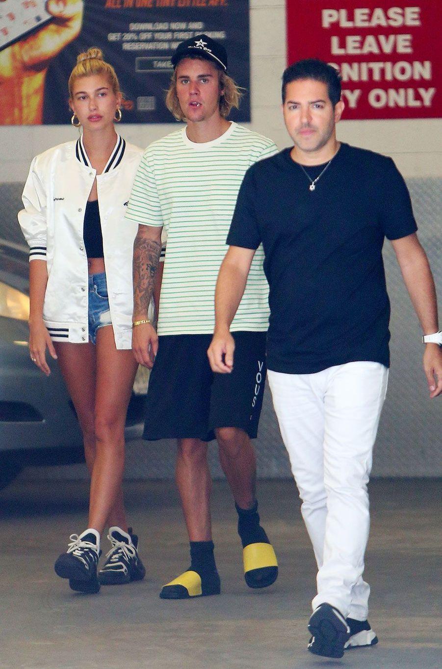 Justin Bieber et Hailey Baldwin à New York le 10 juillet 2018