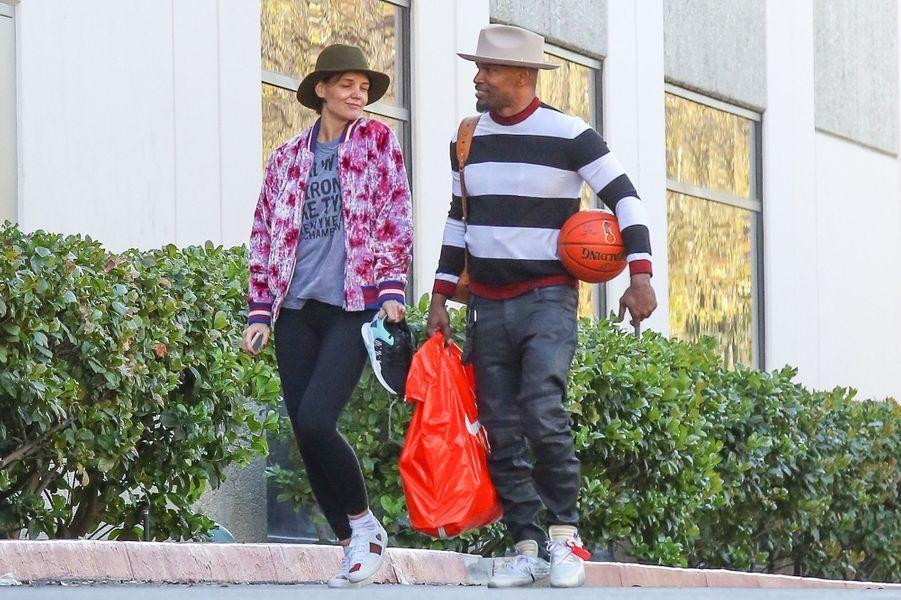Katie Holmes et Jamie Foxx dans les rues de L.A, le 14 février 2018.