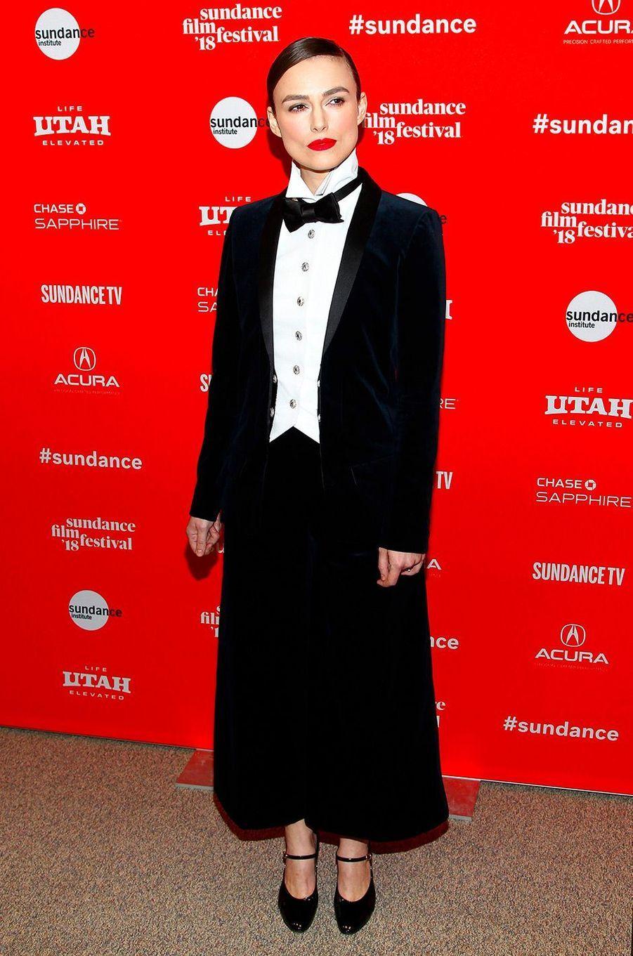 """Keira Knightley présente le film """"Colette"""" au festival Sundance"""
