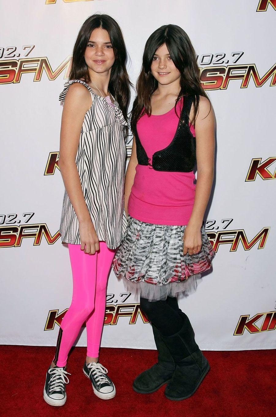 Kylie et Kendall Jenner en mai 2008.