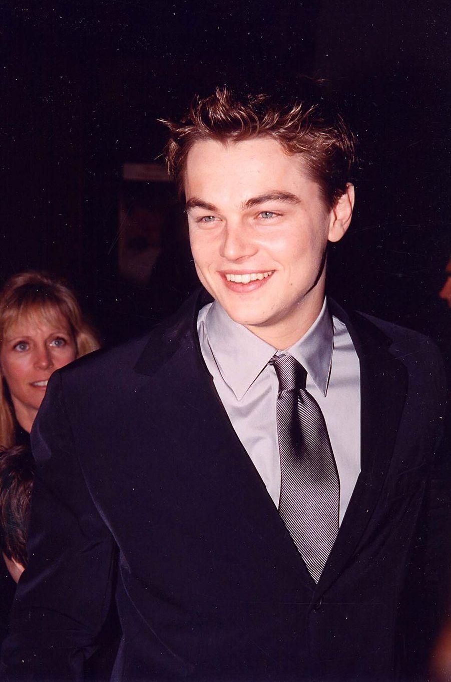"""Leo à l'avant-première de """"Titanic"""" en 1997."""