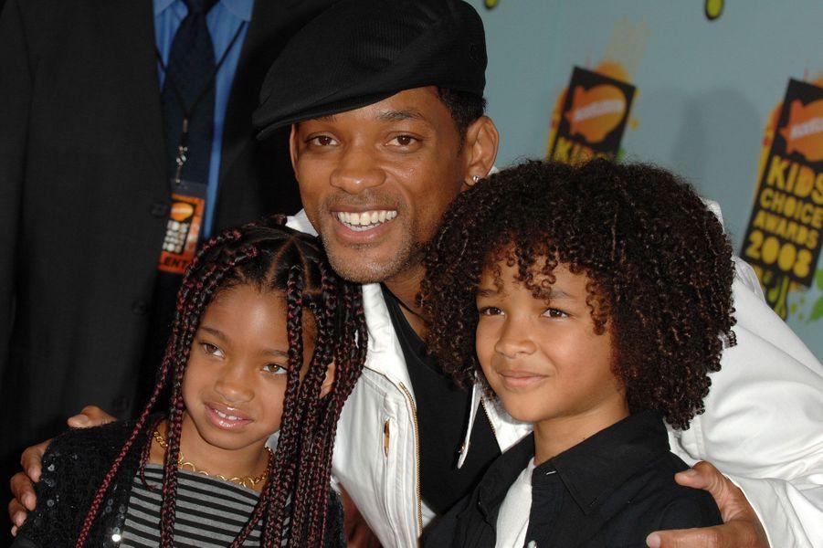 Will Smith et ses deux enfants, Willow et Jaden en 2008