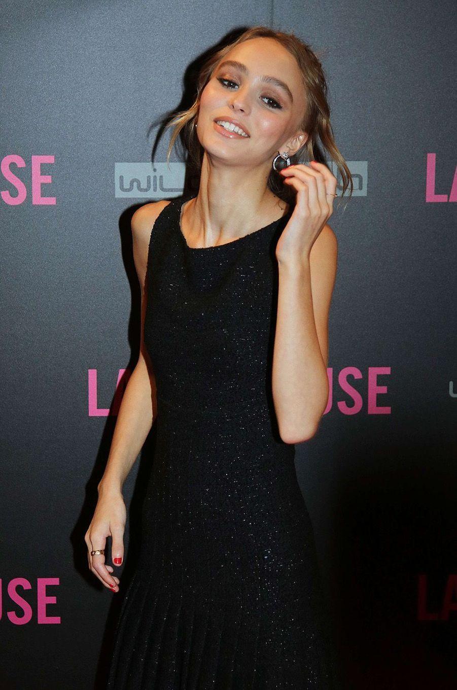Lily-Rose Depp au Gaumont Opéra à Paris, lundi 19 septembre 2016.