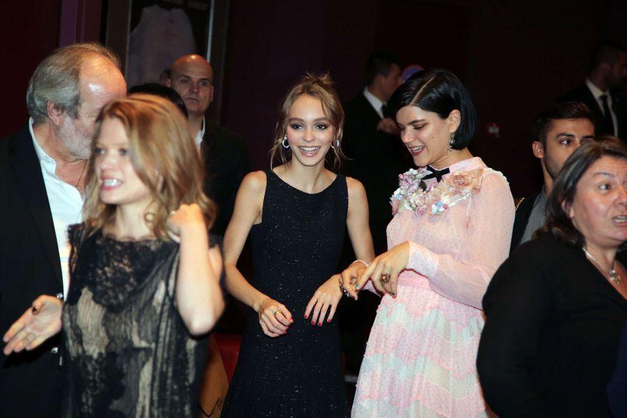 Lily-Rose Depp et Soko au Gaumont Opéra à Paris, lundi 19 septembre 2016.