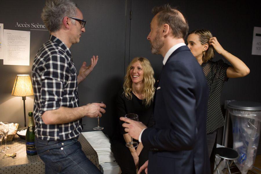 Vincent Delerm,Pierre Souchon et Sandrine Kiberlain en coulisses.