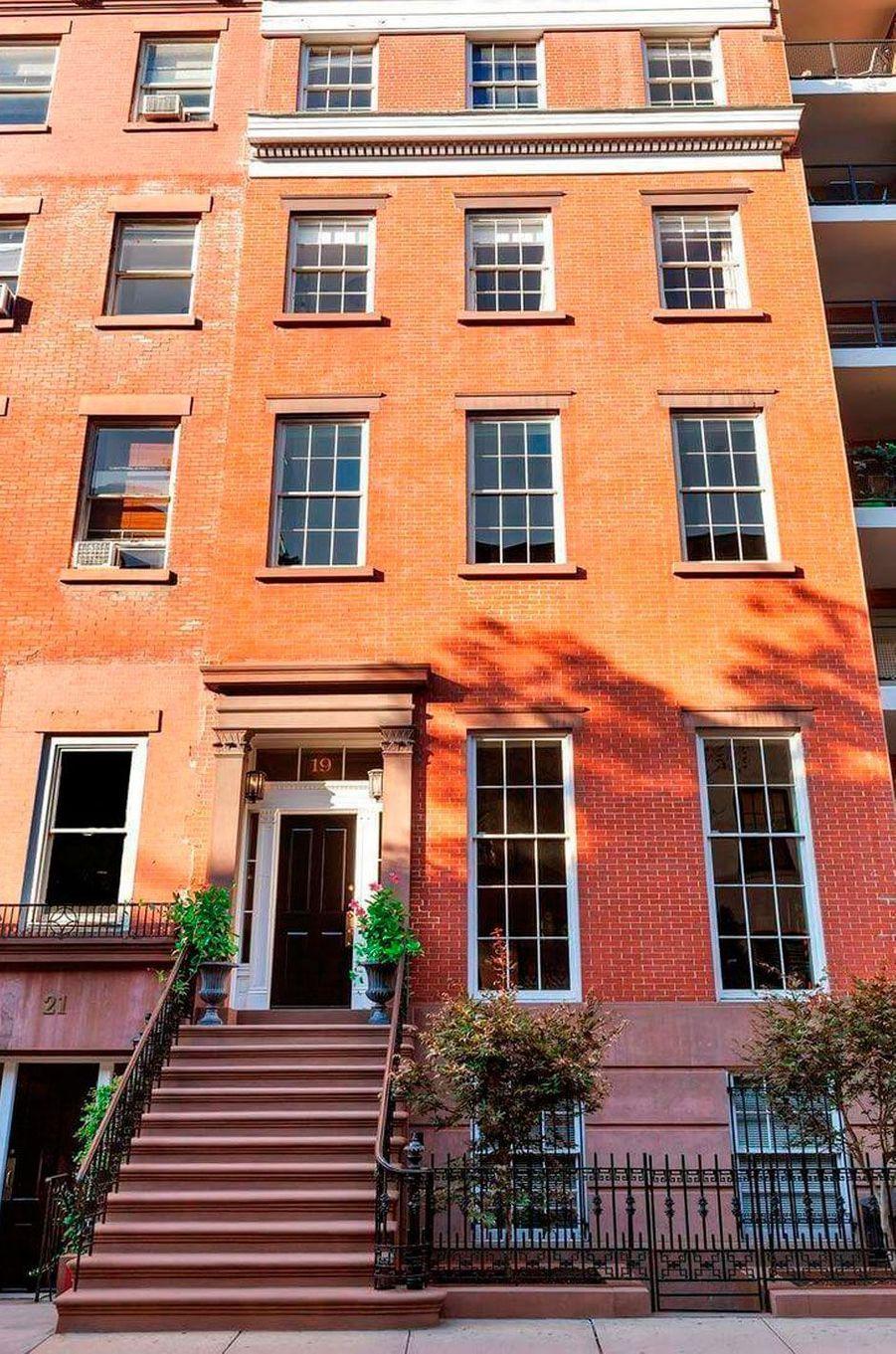 La façade de la maison de Meryl Streep à New York