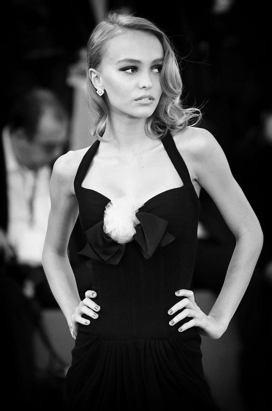 Lily-Rose Depp au festival de Venise, septembre 2016.