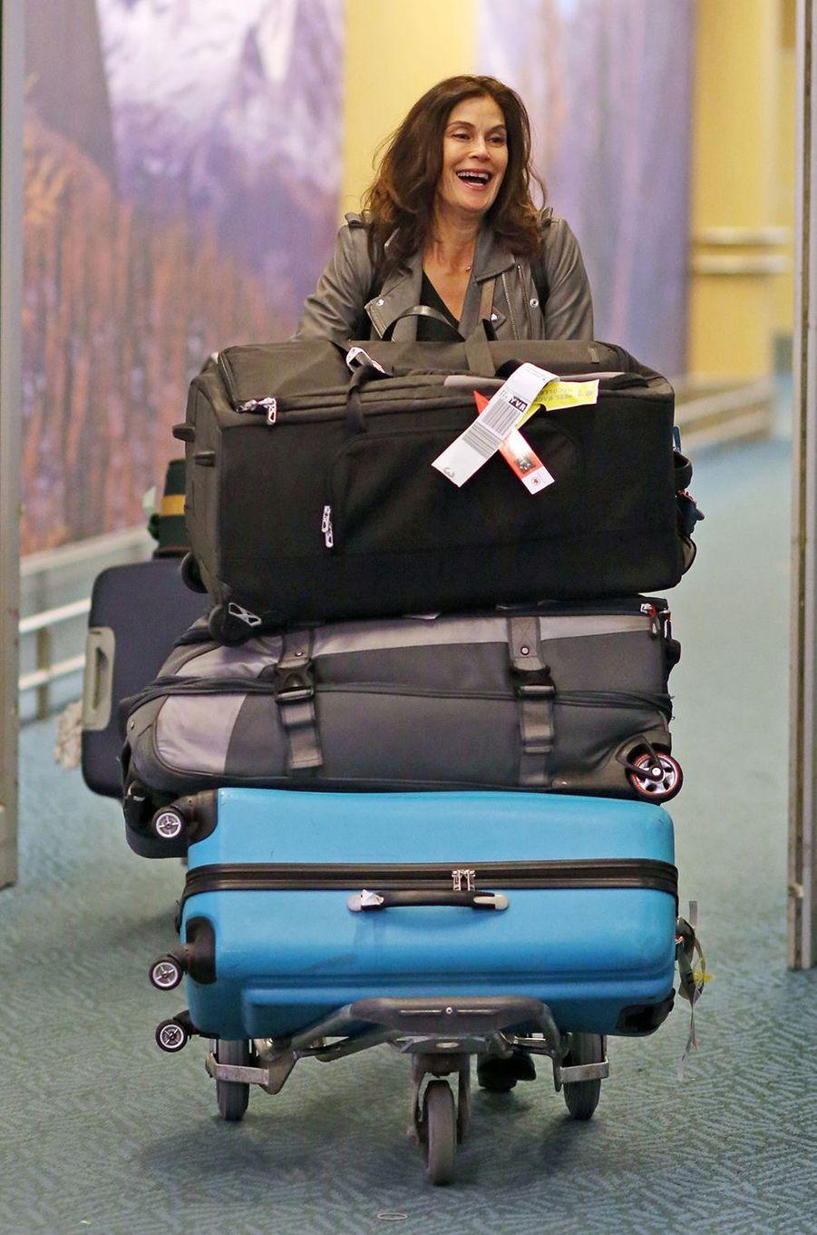 Teri Hatcher à l'aéroport de Vancouver, le lundi 13 février 2017.