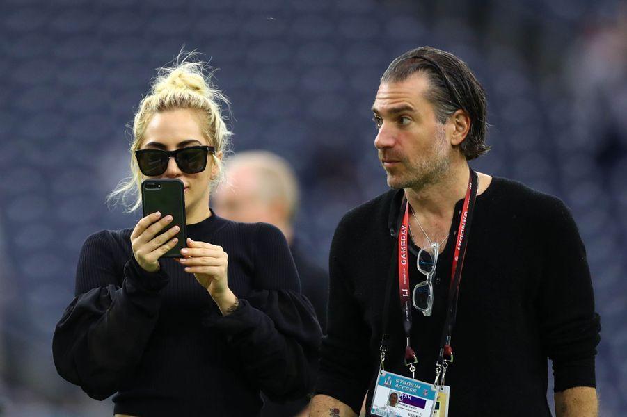 Lady Gaga et Christian Carino à Houston lors des préparatifs du Super Bowl.