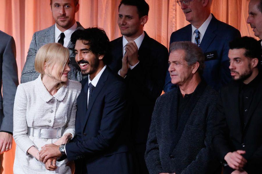 Nicole Kidman, Ryan Gosling, Dev Patel et Mal Gibson.