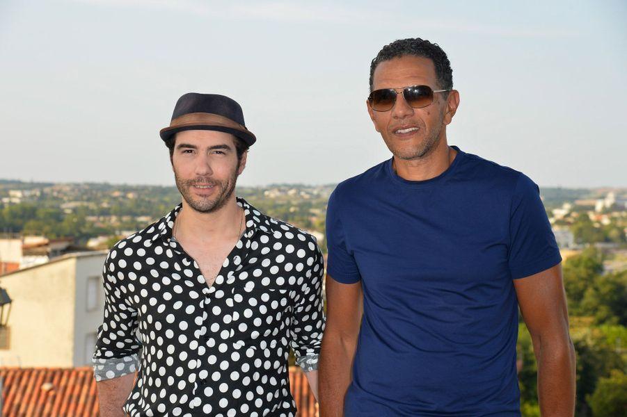 Roschdy Zem et Tahar Rahim au festival du film francophone d'Angoulême, le 24 août 2017.