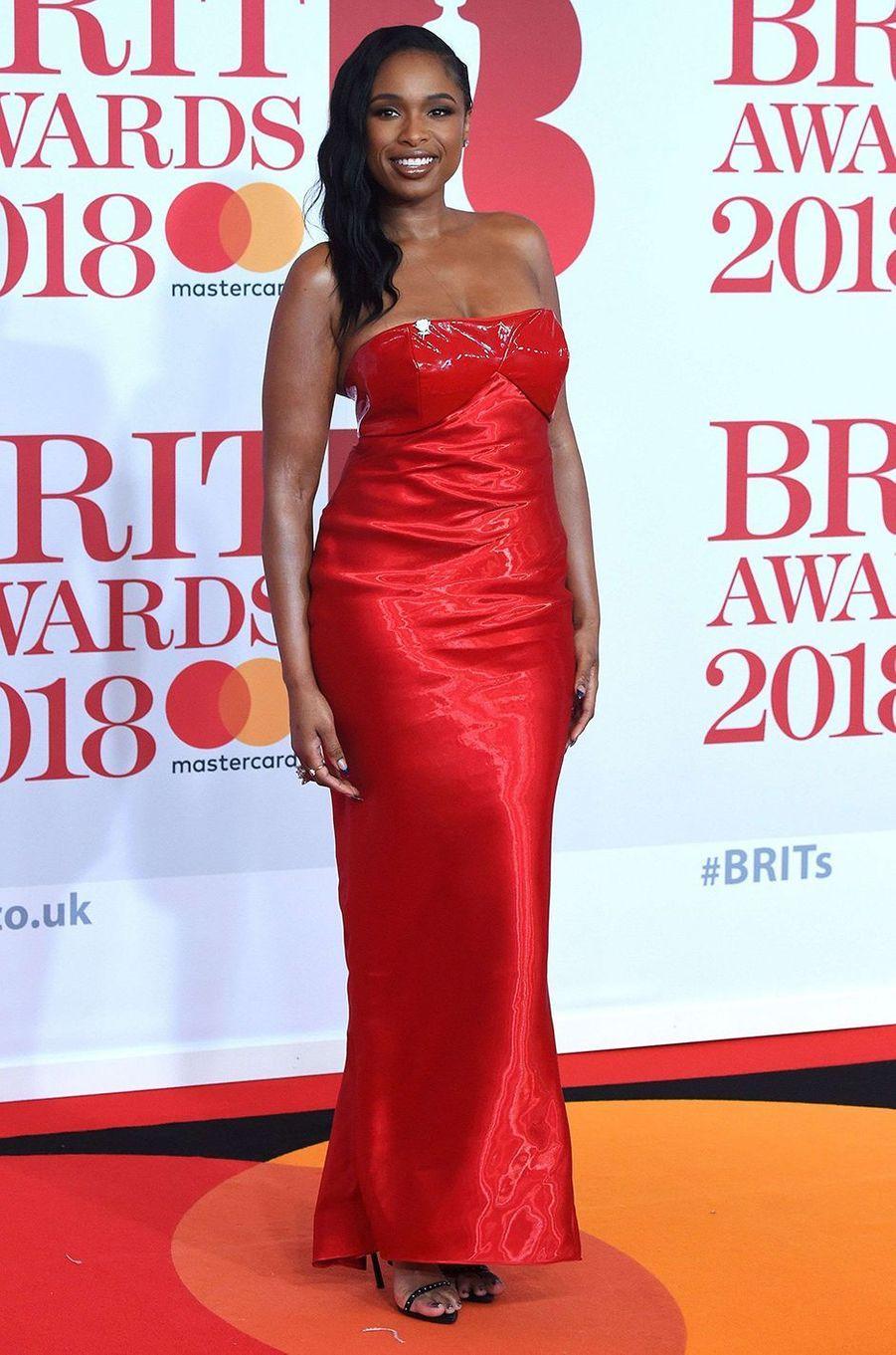 Jennifer Hudson à la soirée des Brit Awards 2018 à Londres, le 21 février 2018.