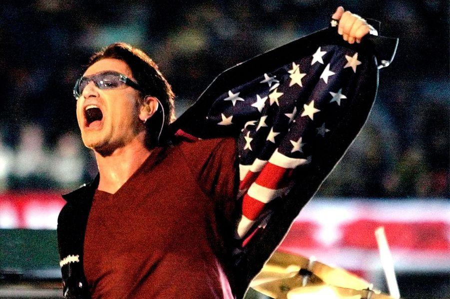 Bono, du groupe U2 en février 2002