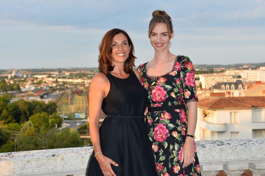 Aure Atika et Louise Bourgoinau festival du film francophone d'Angoulême, le 23 août 2017.
