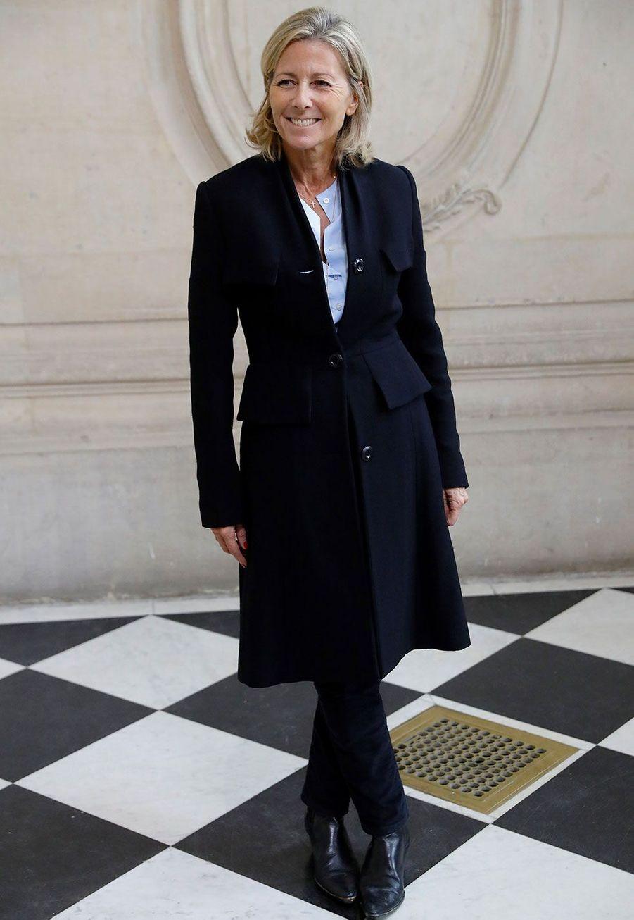Claire Chazal au défilé Dior lors de la Fashion Week parisienne
