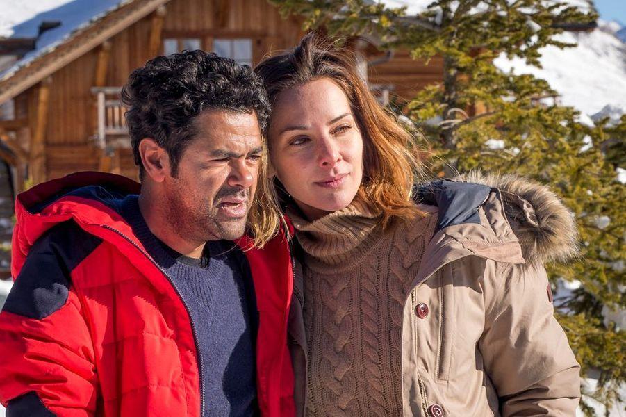 Jamel Debbouze et Mélissa Theuriau à L'Alpe d'Huez.