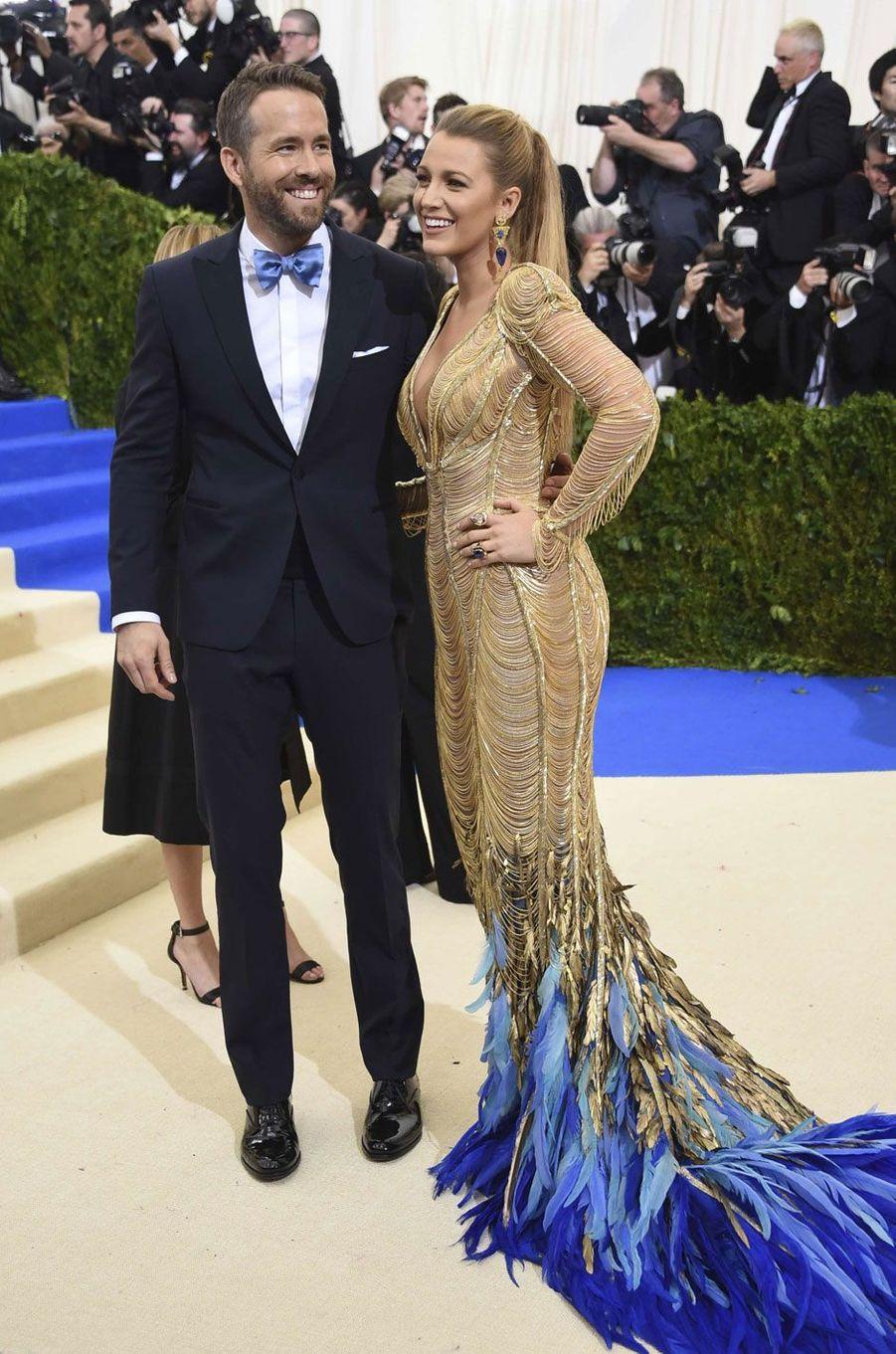 Blake Lively et Ryan Reynolds au Met Gala 2017.