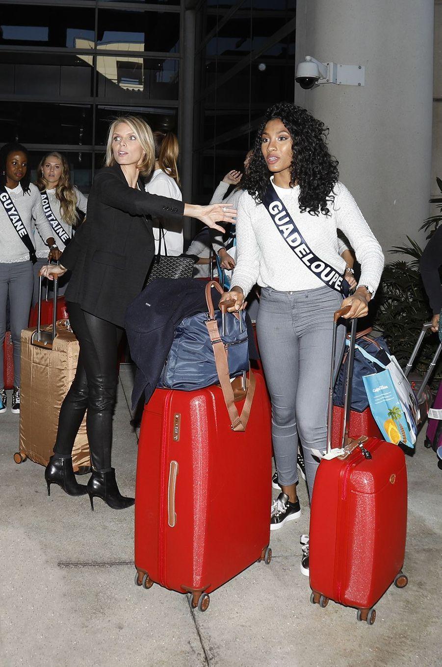 Les Miss arrivent aux Etats-Unis, le 19 novembre 2017.