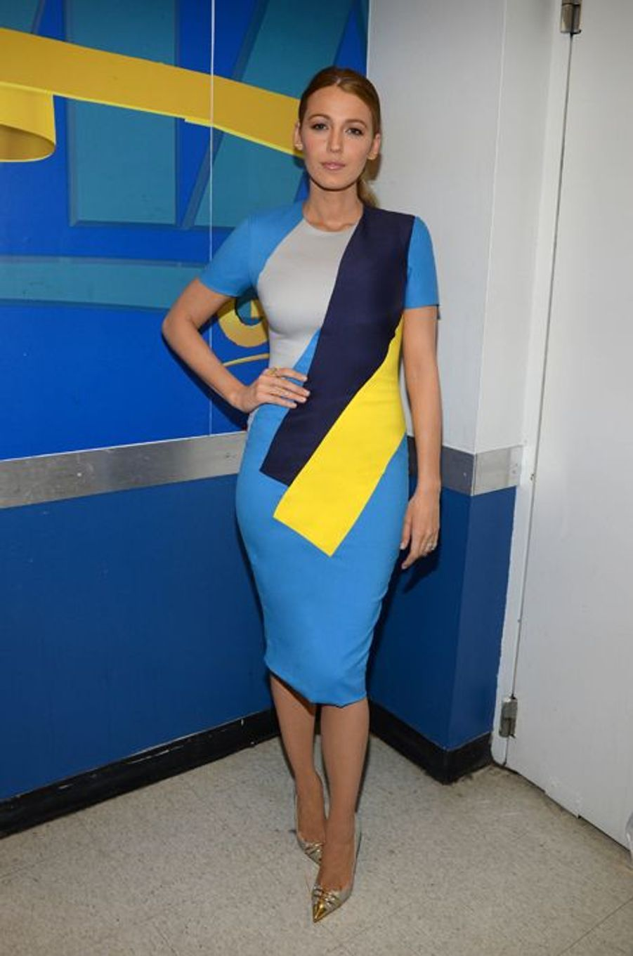 "Blake Lively en Roksanda dans les coulisses de ""Good Morning America"" le 21 avril"