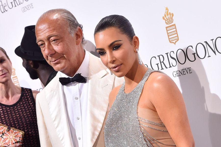 Kim Kardashian à la soirée De Grisogono avec Fawaz Gruosi, le 17 mai 2016