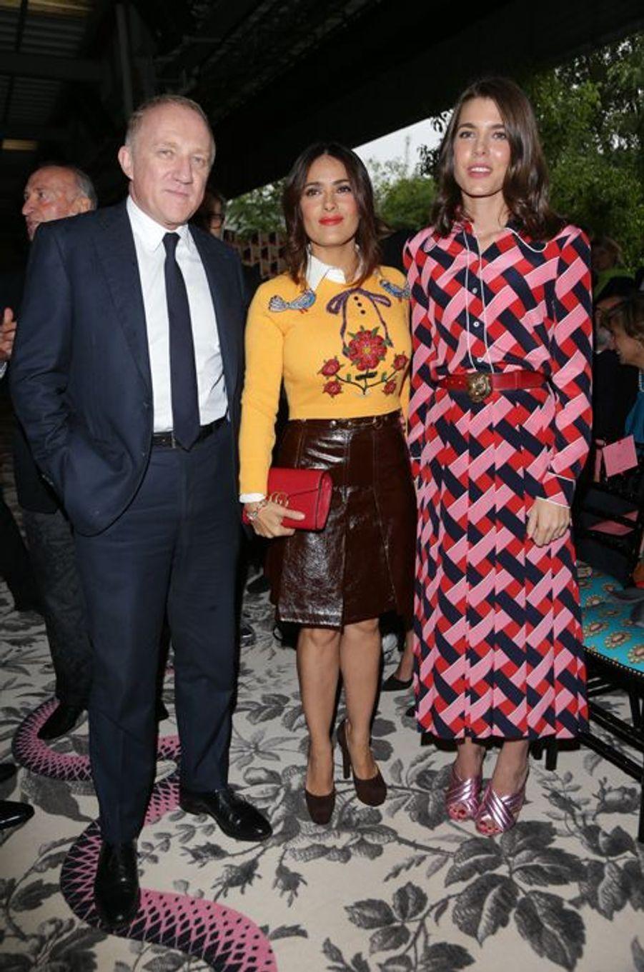 François-Henri Pinault, Salma Hayek et Charlotte Casiraghi