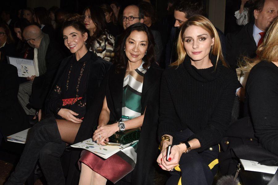 Clotilde Courau, Michelle Yeoh et Olivia Palermo au défilé Elie Saab