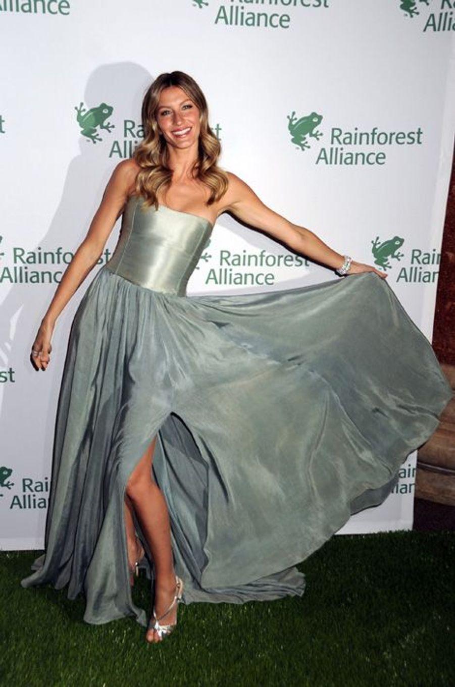 Gisele Bündchen en Jeff Garner au Rainforest Alliance Gala, en mai 2014