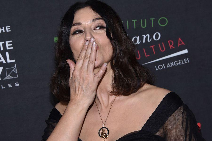 Monica Bellucci honorée pour l'ensemble de sa carrière à Los Angeles, le 31 janvier 2018.