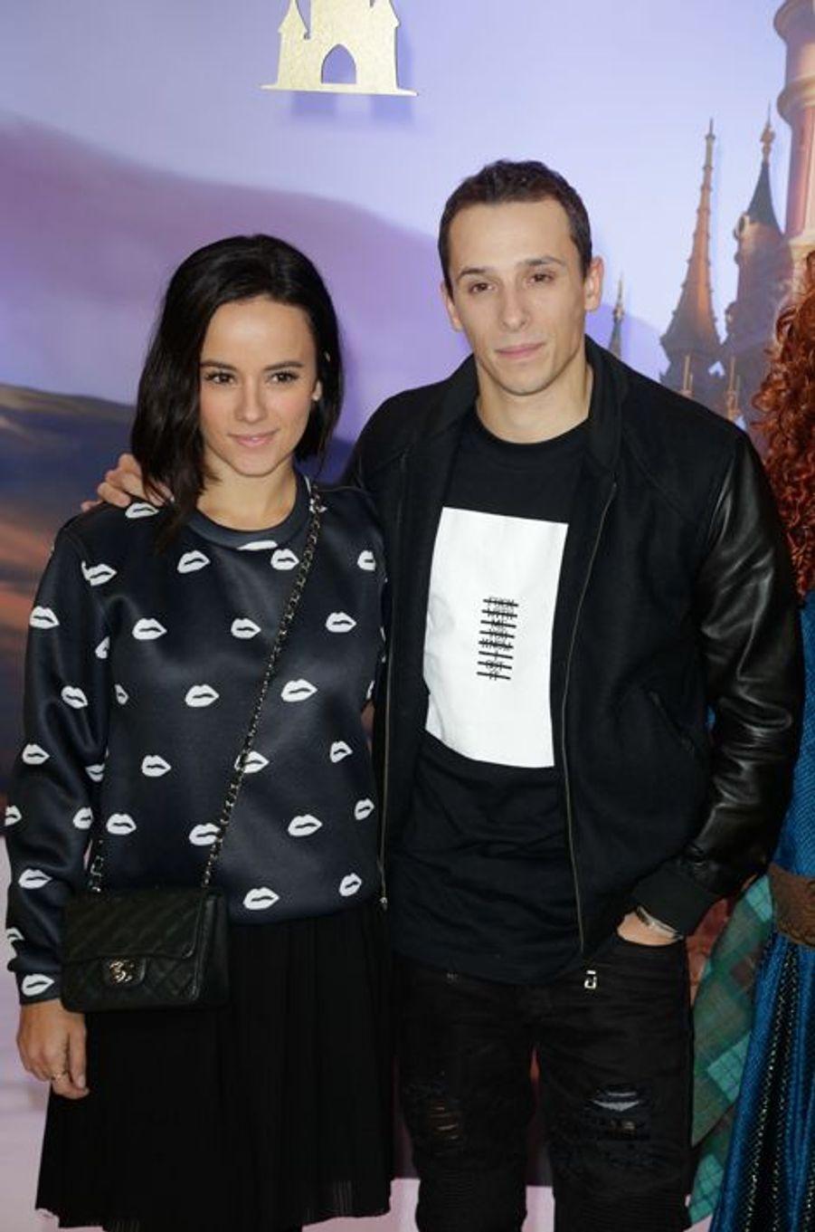 Alizée et Grégoire Lyonnet au lancement des festivités de Noël à Disneyland Paris, le 16 novembre 2014