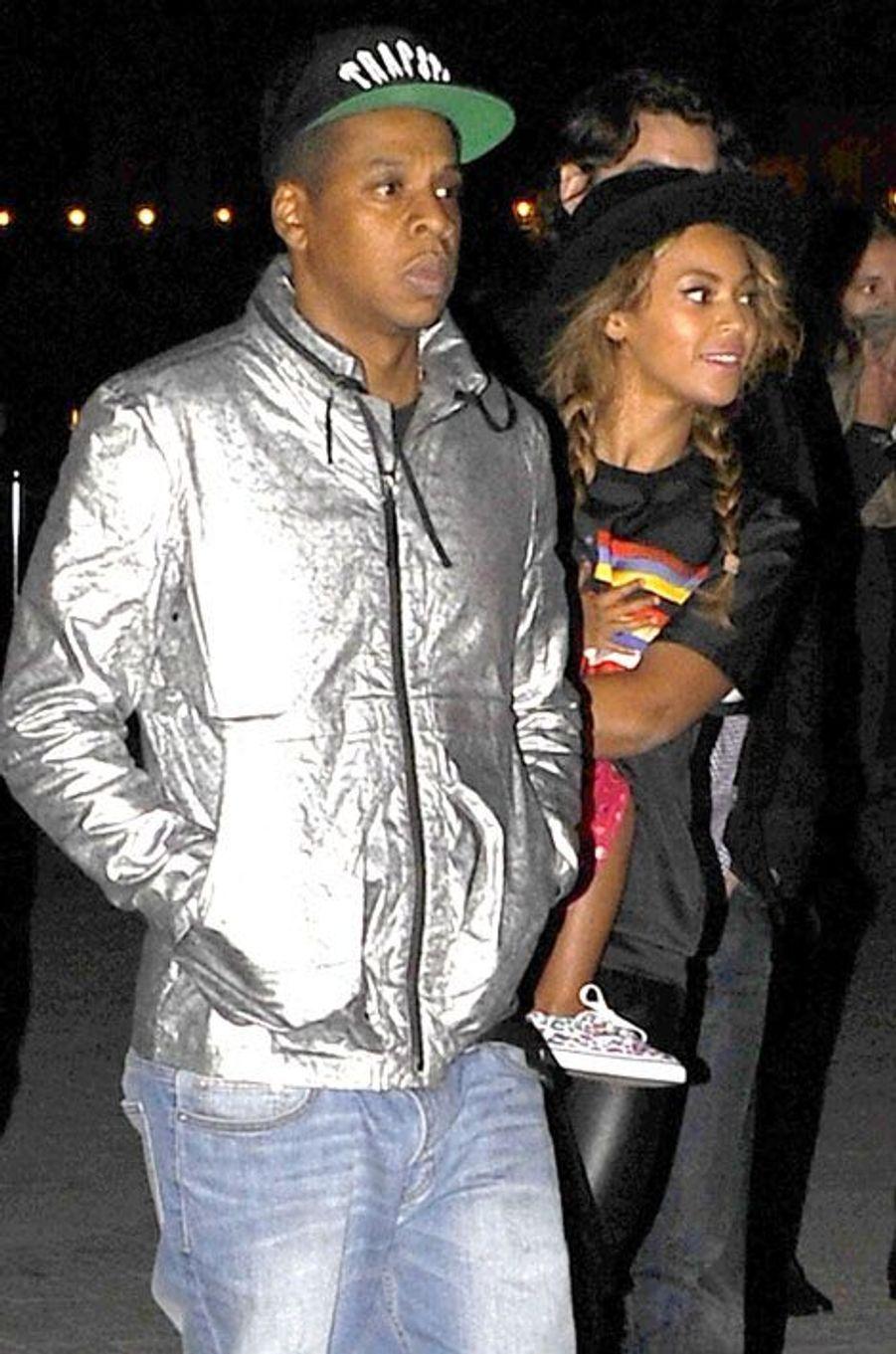 Beyoncé et Jay Z lors de leur visite du Louvre le 7 octobre 2014
