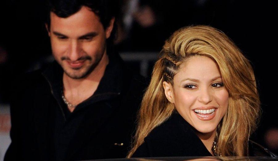 La Colombienne Shakira est arrivée dans la capitale espagnole pour la cérémonie des Annual Music Awards.