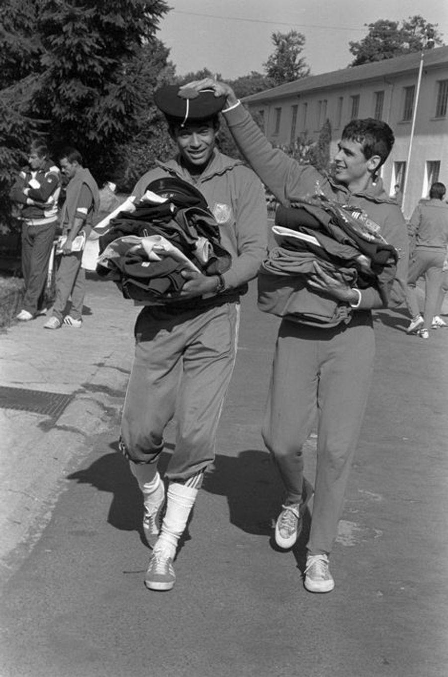 A Fontainebleau avec Pascal Portes lors de leur service militaire, 1978