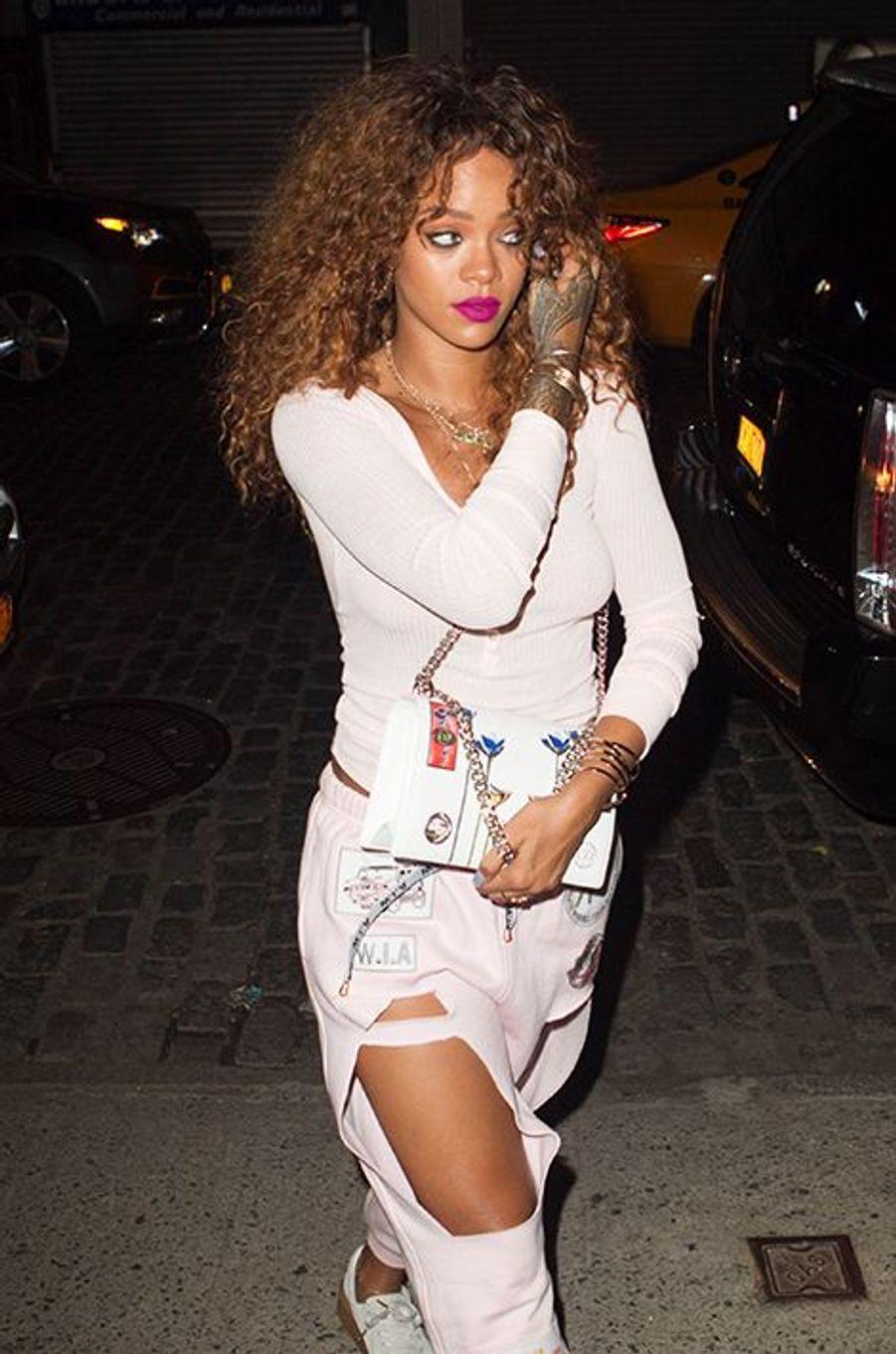 Rihanna à New York le 11 août 2015