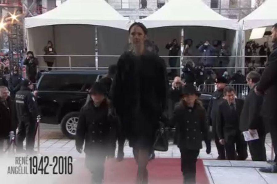 L'entrée dans la Basilique de Céline Dion avec les deux jumeaux