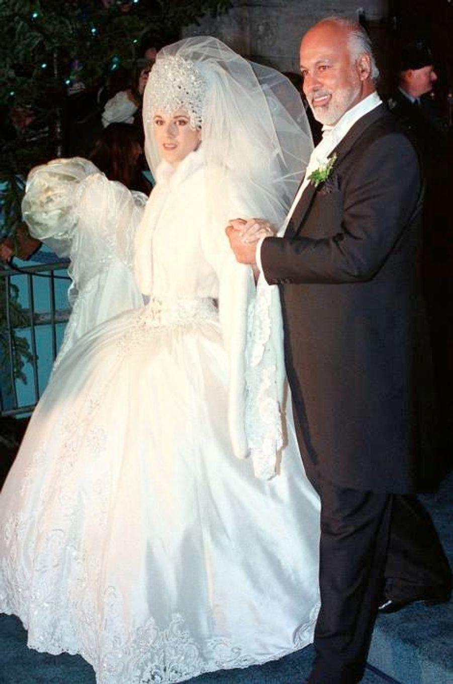 Le mariage de Céline Dion et René Angélil le 17 décembre 1994