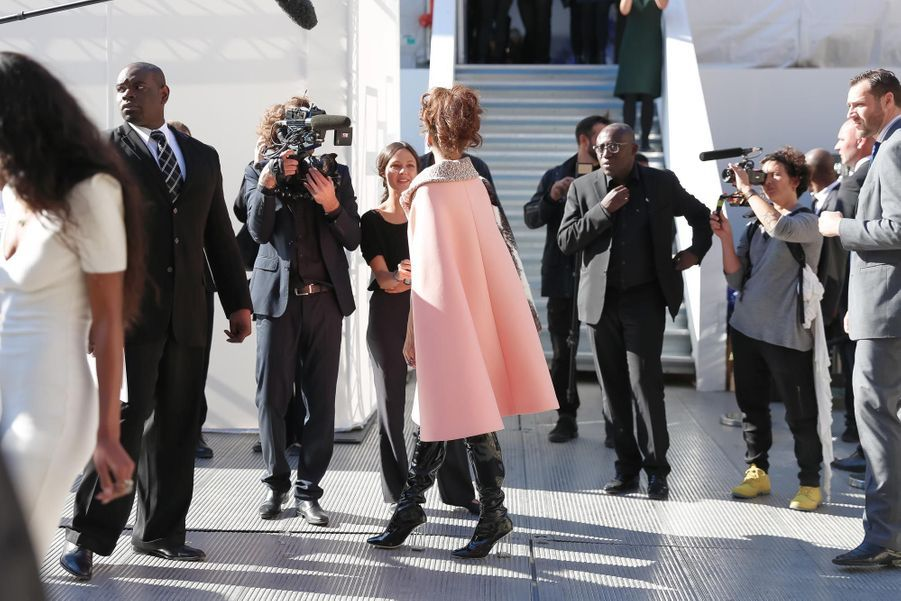 Rihanna avant le défilé Dior