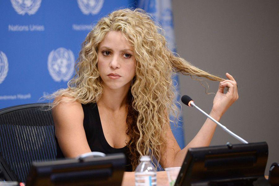 Shakira à New York le 22 septembre 2015
